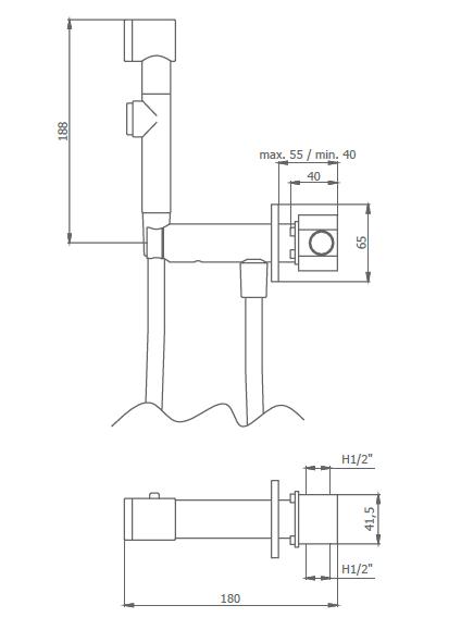 Robinet périnéal Intimixer mélangeur progressif Chromé - GRB Réf. 08225100