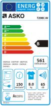 Sèche-linge à condensation 8kg Blanc - ASKO Réf. T208CW