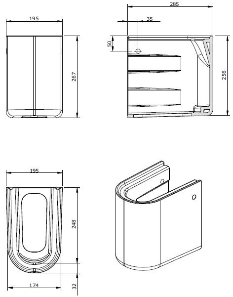 Semi-colonne WCKids Blanc - SANINDUSA Réf. 125220