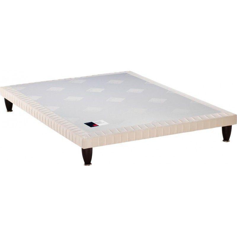 "Sommier double MEDIUM extra-plat 3 zones - 160(2x80) x 200 cm - Finition tissu \""Origines carré\"" - EPEDA Réf. IB1351616020000"