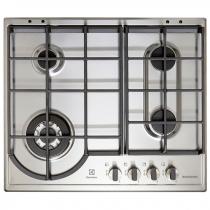 Table de cuisson gaz 60cm 4 foyers Inox - ELECTROLUX Réf. EGH6349GOX