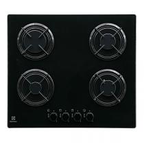 Table de cuisson gaz 60cm 4 foyers verre Noir - ELECTROLUX Réf. EGT6242NVK