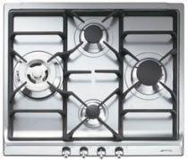 Table de cuisson gaz Classique 60cm 4 brûleurs Inox - SMEG Réf. SER60SGH3