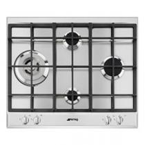 Table de cuisson gaz Essentiel 60cm 4 brûleurs Inox - SMEG Réf. P261XGH
