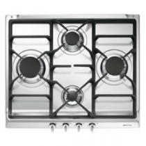 Table de cuisson gaz Essentiel 60cm 4 brûleurs Inox - SMEG Réf. S60GHS