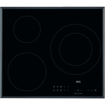 Table de cuisson induction 60cm 3 foyers Noir - AEG Réf. IKB63301FB