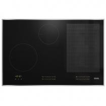 Table de cuisson induction 80cm 4 foyers Noir cadre Inox - MIELE Réf. KM 7574 FR