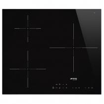 Table induction 60cm 3 foyers Noir - SMEG Réf. SI5632D