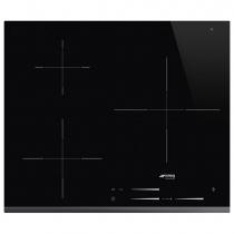 Table induction 60cm 3 foyers Noir bord avant biseauté - SMEG Réf. SI7633B