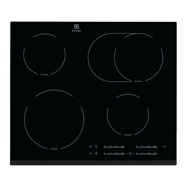 Table vitrocéramique 60cm 4 foyers Noir - ELX Réf. EHF65451FK