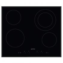 Table vitrocéramique 60cm 4 foyers Noir - SMEG ELITE Réf. SE364ETB