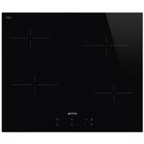 Table vitrocéramique 60cm 4 foyers Noir - SMEG Réf. SE264TD