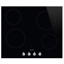 Table vitrocéramique 60cm 4 foyers Noir - SMEG Réf. SE364TDM