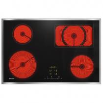 Table vitrocéramique 75cm 4 foyers Noir cadre Inox - MIELE Réf. 10889610