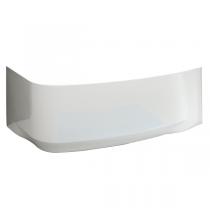 Tablier pour baignoire asymétrique Frisbee 140x80cm acrylique Blanc installation à droite - LEDA Réf. L26FR3A0201