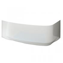 Tablier pour baignoire asymétrique Frisbee 145x85cm acrylique Blanc installation à gauche - LEDA Réf. L26FR3A0501
