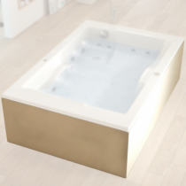 Tablier U Novalu Welness 120x180x120 pour baignoire Confidence Blanc  - AQUARINE Réf. 223136