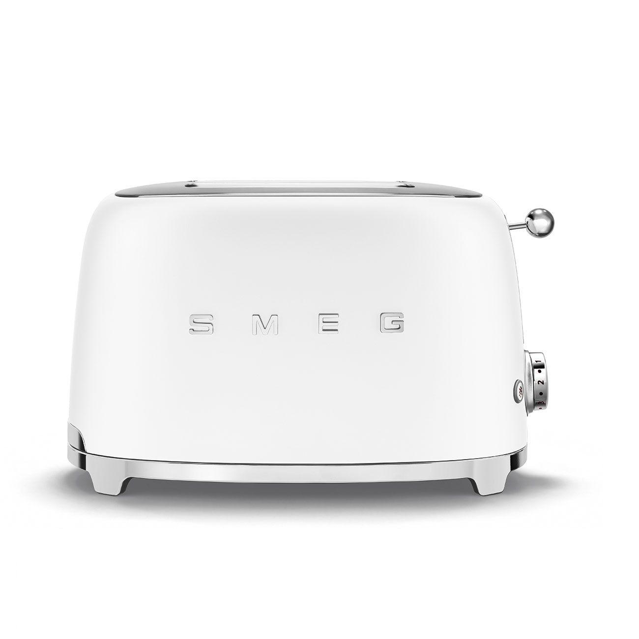 Toaster 2 tranches Années 50 Blanc mat - SMEG Réf. TSF01WHMEU