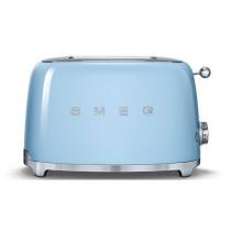 Toaster 2 tranches Années 50 Bleu Azur - SMEG Réf. TSF01PBEU