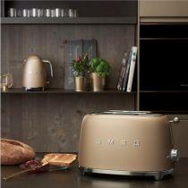 Toaster 2 tranches Années 50 Doré mat - SMEG Réf. TSF01CHMEU
