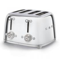 Toaster 4 tranches Années 50 Chromé - SMEG Réf. TSF03SSEU