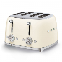 Toaster 4 tranches Années 50 Crème - SMEG Réf. TSF03CREU