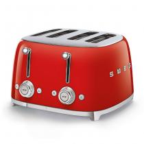 Toaster 4 tranches Années 50 Rouge - SMEG Réf. TSF03RDEU