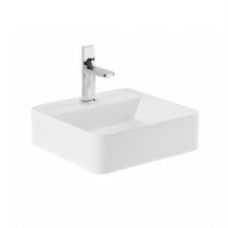 Vasque à pose Sanlife 40x40cm percé 1 trou Blanc- SANINDUSA Réf. 136720004