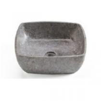 Vasque à poser LOOP 40cm Marbre gris - Aquarine Réf. 826132