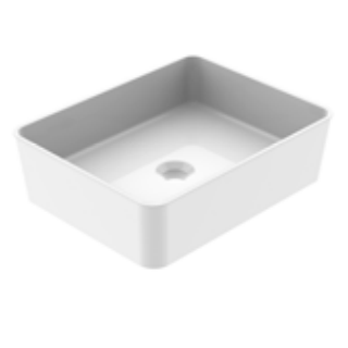Vasque à poser REKA 48 cm Blanc brillant - AQUARINE Réf. 824862
