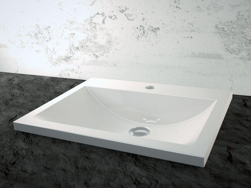 Vasque semi-encastrée Séréna 50cm Céramyl coloris au choix- DECOTEC Réf.  1240011